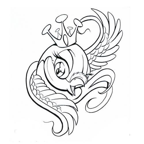500x500 183king Bird Drawing Everything Bird, Tattoo And Tatoo