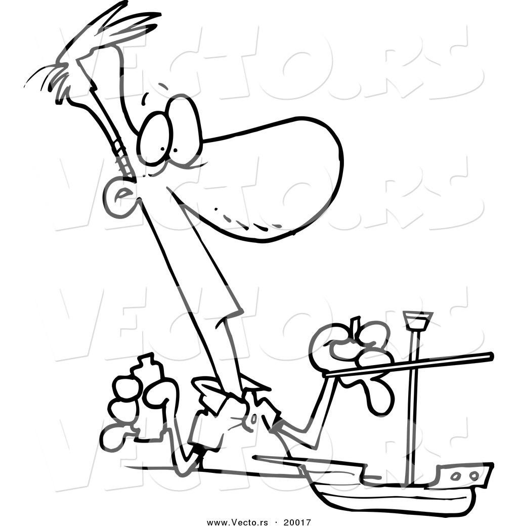 1024x1044 Vector Of A Cartoon Man Building A Model Boat