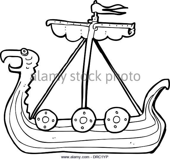 572x540 Viking Boat Black And White Stock Photos Amp Images