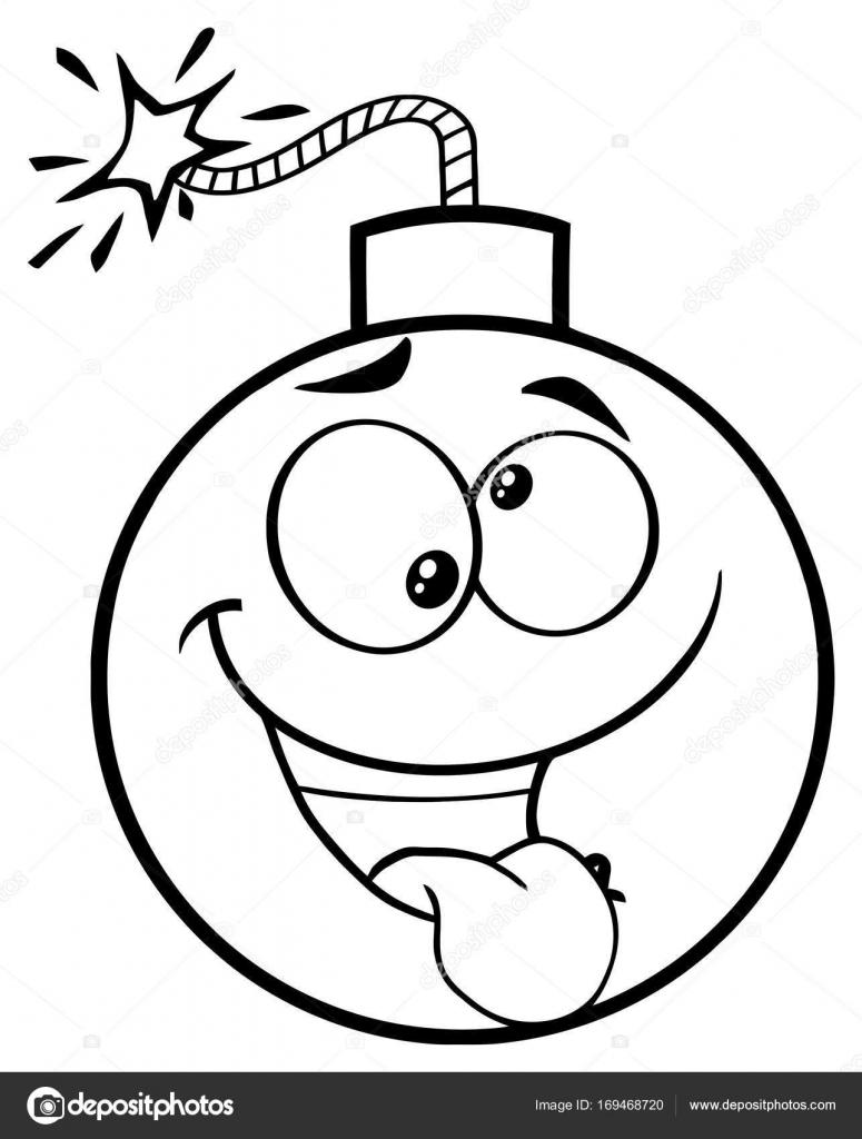 775x1024 Crazy Cartoon Face Bomb Stock Vector Hittoon
