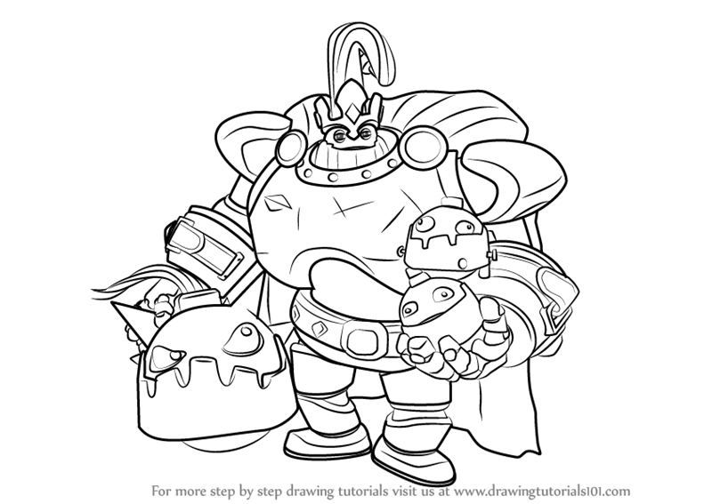 800x567 Learn How To Draw Bomb King From Paladins (Paladins) Step By Step