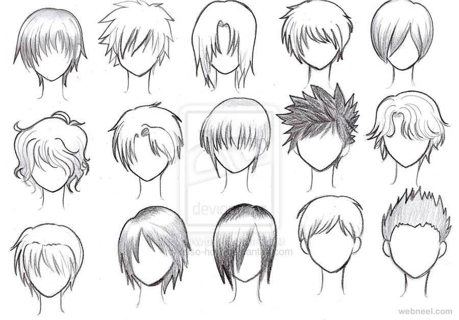 900x627 Draw Anime Male Hair 20