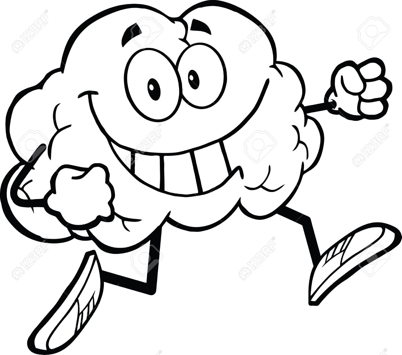 1300x1148 Cartoon Brain Drawing Outlined Healthy Brain Cartoon Character