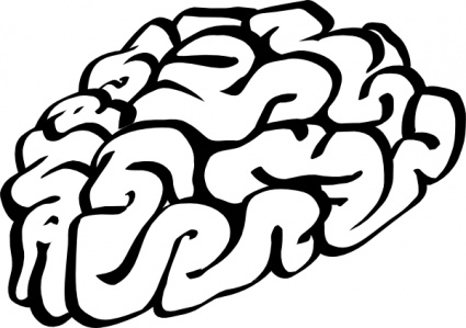 425x299 Cartoon Brain Outline Clip Art Vector, Free Vectors