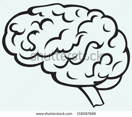 450x398 Drawn Brain Clear Background
