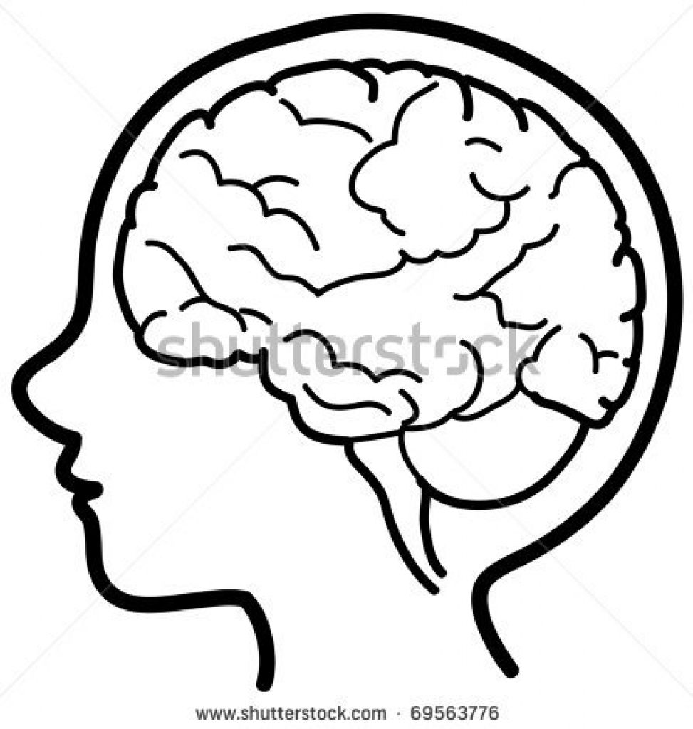 973x1024 Human Brain Cartoon Outline