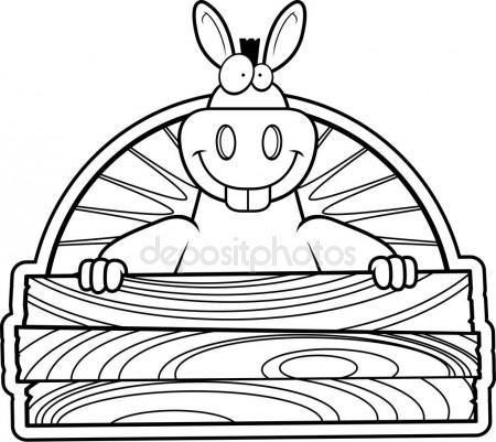 450x401 Cartoon Buffalo Wood Sign Stock Vector Cthoman