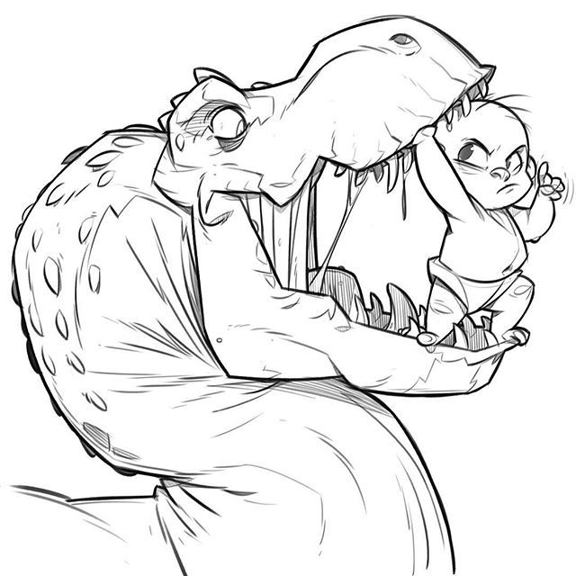640x640 Drawing Easy Cartoon Dinosaur Drawing With Baby Dinosaur Cartoon