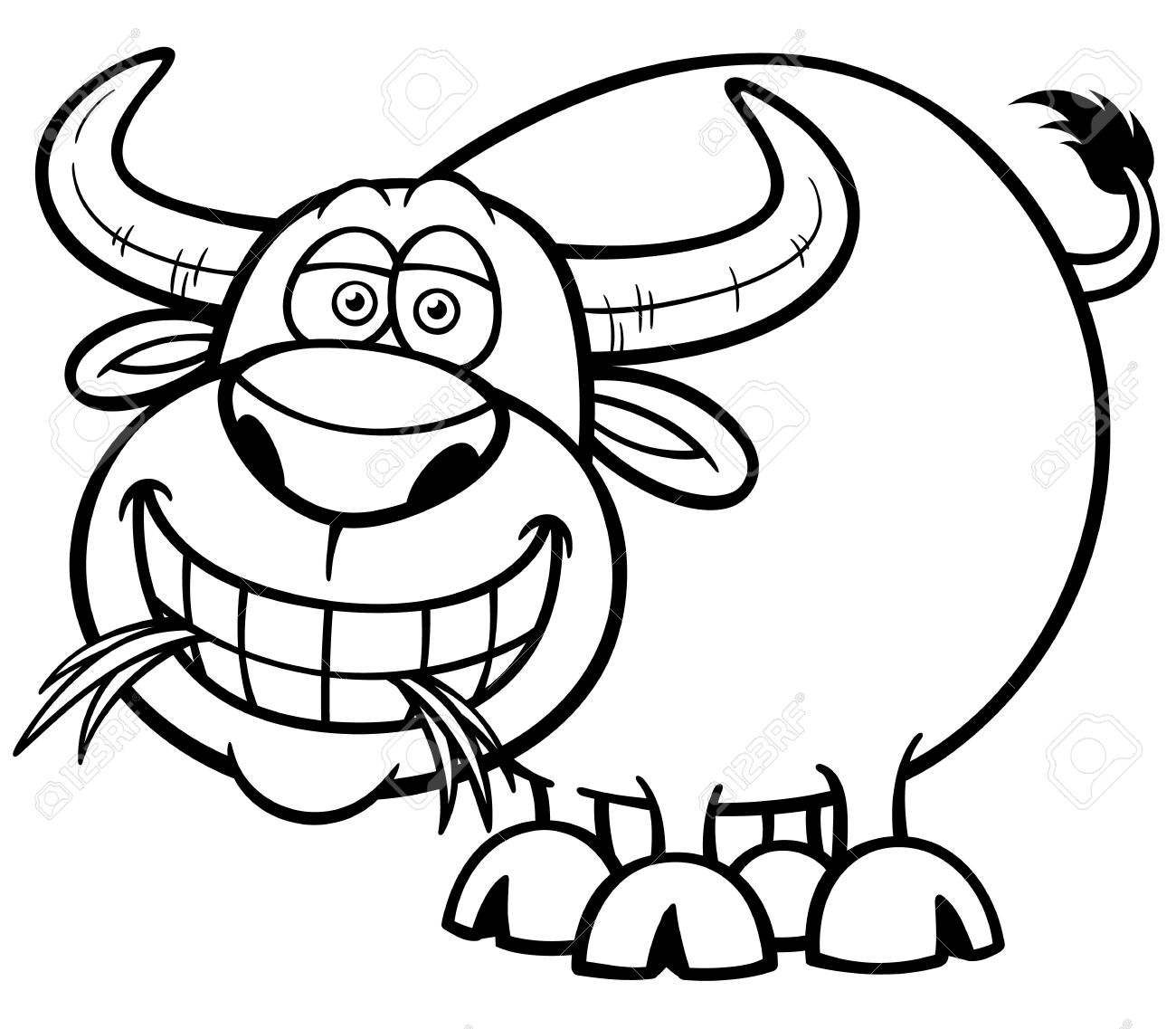 1300x1137 Illustration Of Cartoon Buffalo