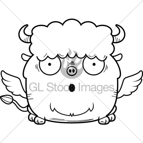 500x500 Surprised Cartoon Buffalo Wings Gl Stock Images
