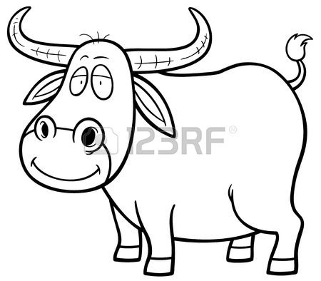450x394 Vector Illustration Of Cartoon Buffalo