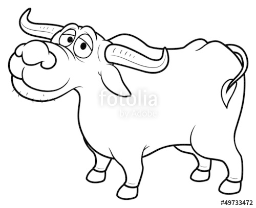 500x407 Illustration Of Cartoon Buffalo