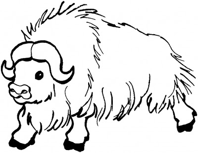 400x308 Animal Coloring To Print Buffalo For Kids Cartoon Coloring Pages