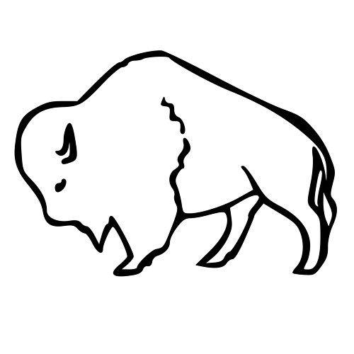 500x500 Buffalo Clipart Buffalo Outline Clipart