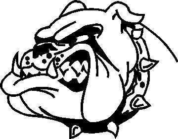 360x280 Cartoon Bulldog Face