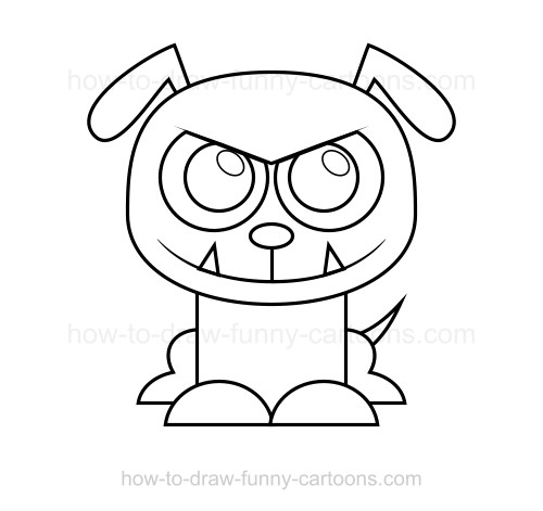 500x471 To Draw A Bulldog