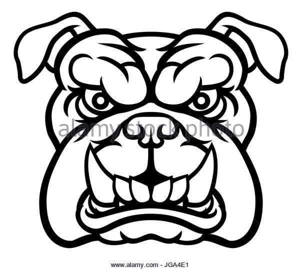 604x540 Angry Cartoon Bulldog Head Stock Photos Amp Angry Cartoon Bulldog
