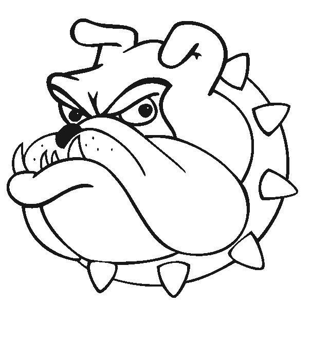 607x668 Bulldog Cartoon Drawing Food Cricut, Silhouettes