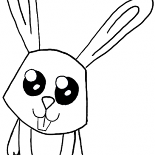 320x320 Simple Bunny Drawing How To Draw A Cartoon Rabbit With Easy Step