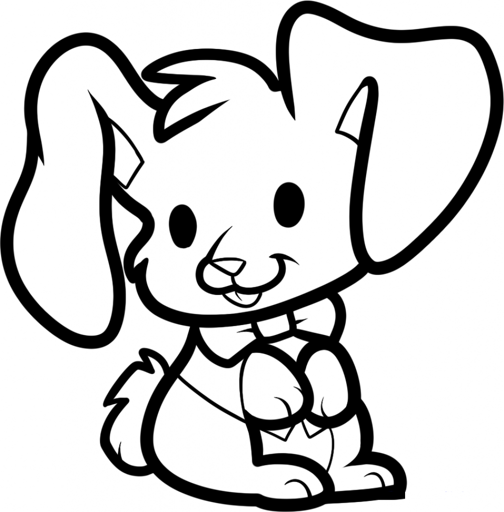 1009x1024 Cartoon Bunny Drawings Collection Easy To Draw Easter Bunny