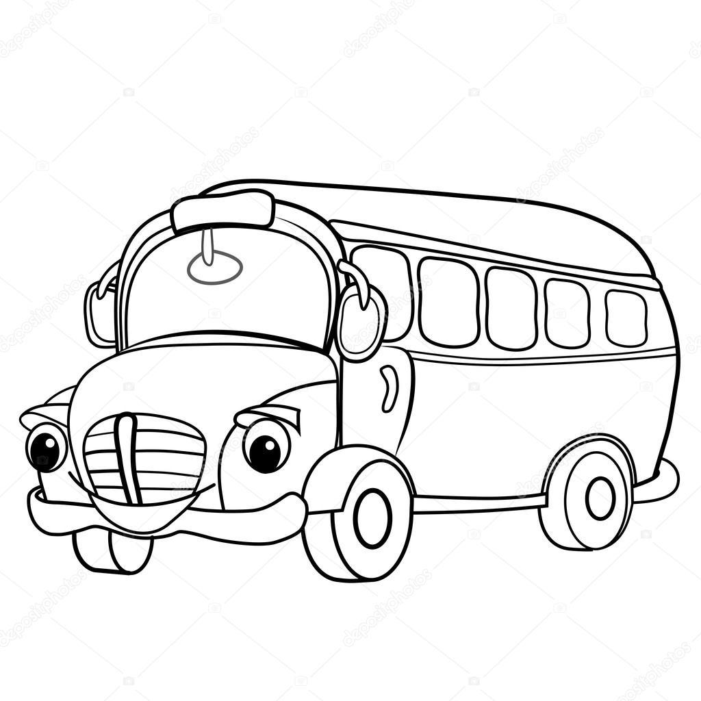 1024x1024 Cartoon Of Merry Bus. Stock Vector Vitasunny