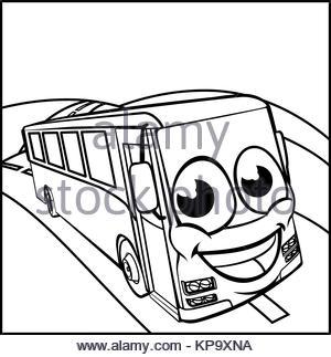 300x323 Coach Bus Cartoon Vector Art Stock Vector Art Amp Illustration