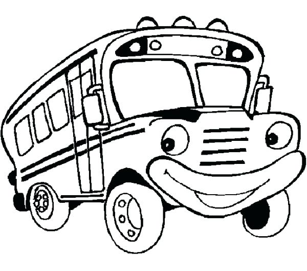 600x529 Coloring Pages. School Bus Coloring Book