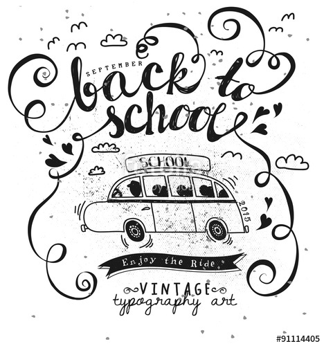 468x500 Back To School Vintage Typography Poster