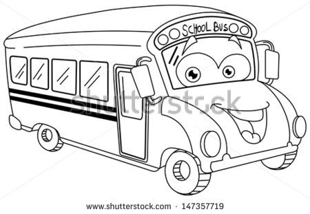 450x311 New School Bus Drawings Cartoons Outlined School Bus Cartoon Stock