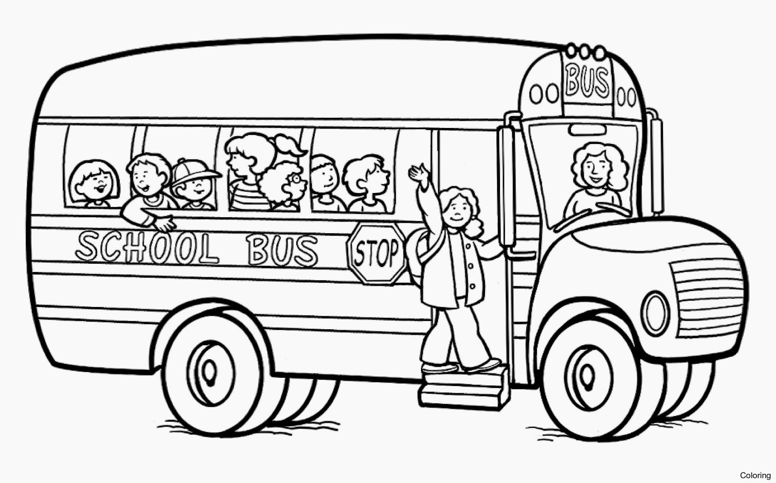 1600x996 School Coloring Pages Bus Printable Schoolhouse Magic Yellow