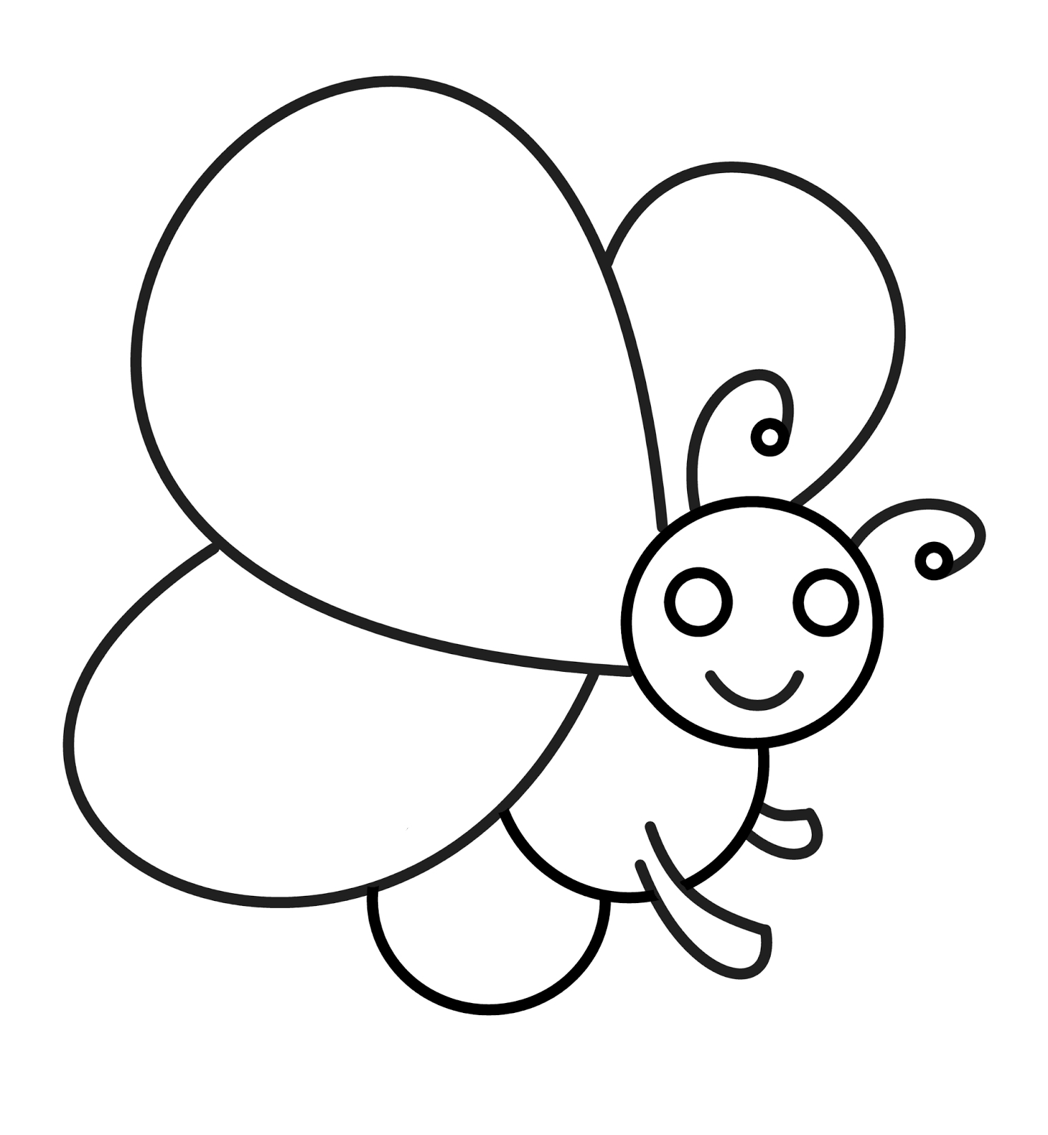 1478x1600 Cartoon Butterfly Drawing Cartoon Drawing Butterfly How To Draw