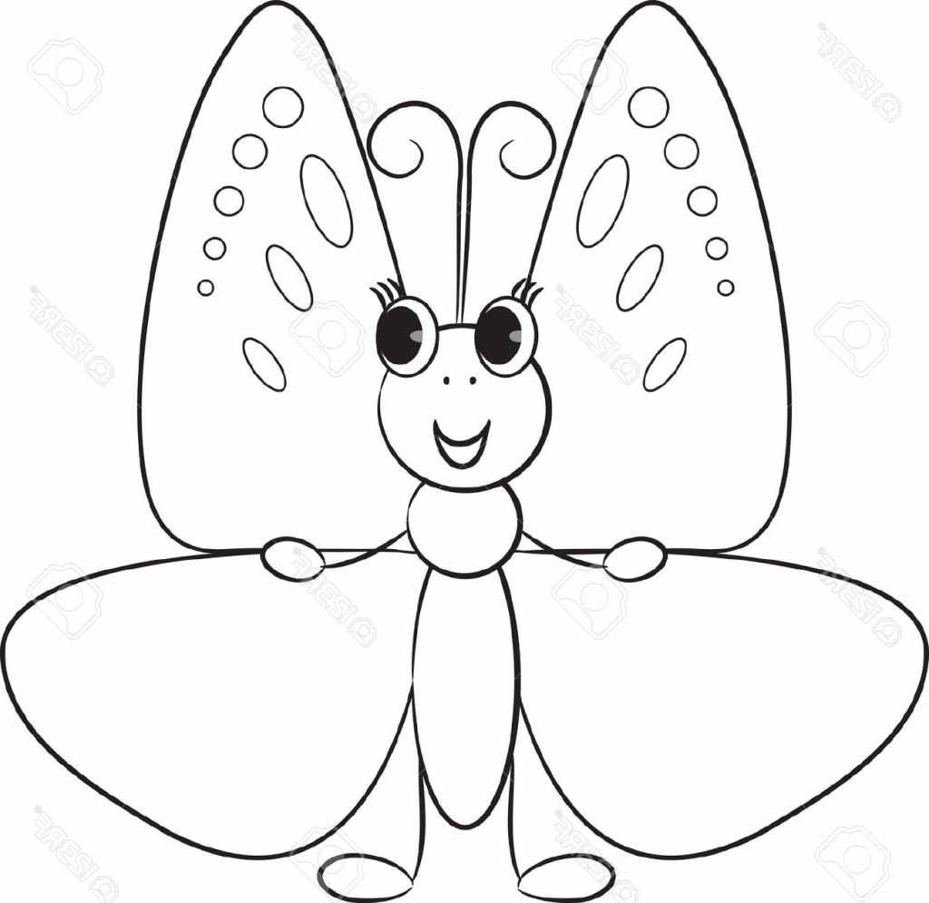 1024x995 Cartoon Butterfly Drawings Cartoon Drawing Butterfly How To Draw