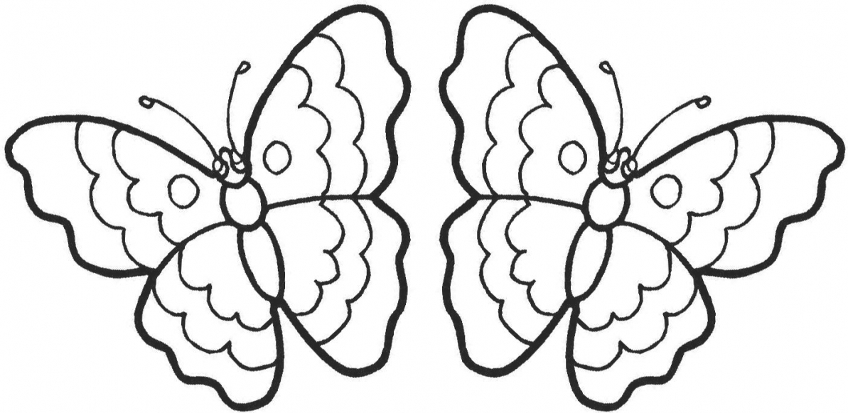 1193x581 Coloring Pages Of Cartoon Butterflies Archives