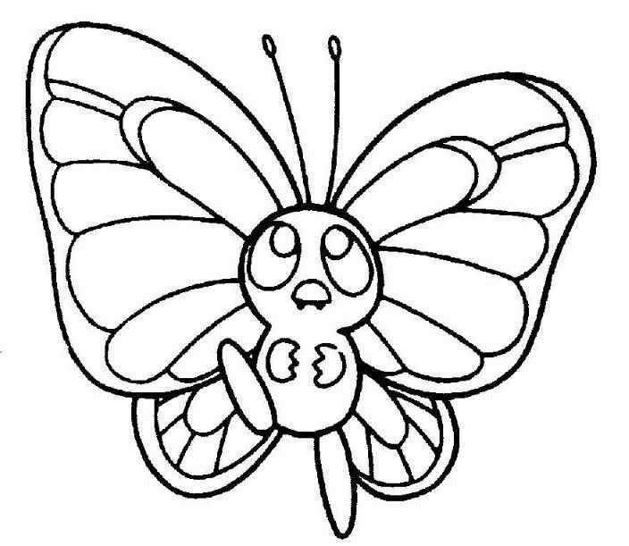 704x611 Cute Butterfly Coloring Pages