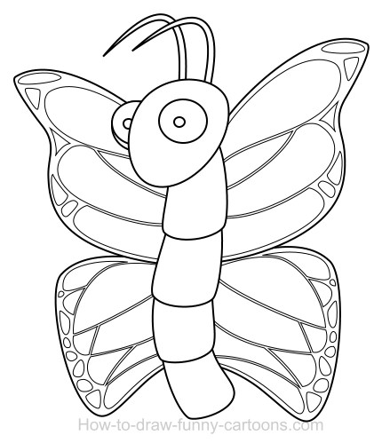 430x499 Drawing A Butterfly Cartoon