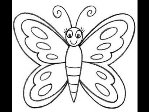 480x360 How To Draw A Butterfly Easy For Kids