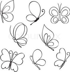 236x244 Simple Butterfly Line Drawing Tattoo Inspiration