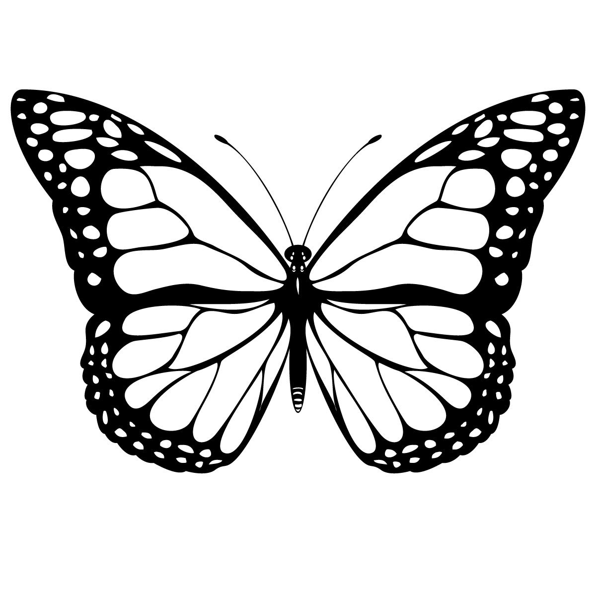 1200x1200 Butterfly Drawing Black And White Black And White Butterfly Tattoo