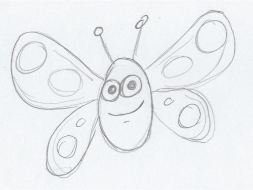 500x375 Butterfly Sketch