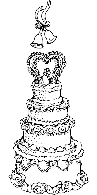 320x640 Black, Cake, Outline, Drawing, Wedding, White, Cartoon