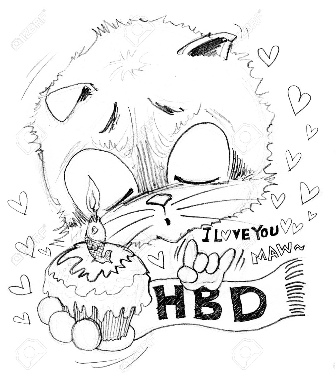 1141x1300 Happy Birthday And Cake With Small Word Is I Love You He Surprise