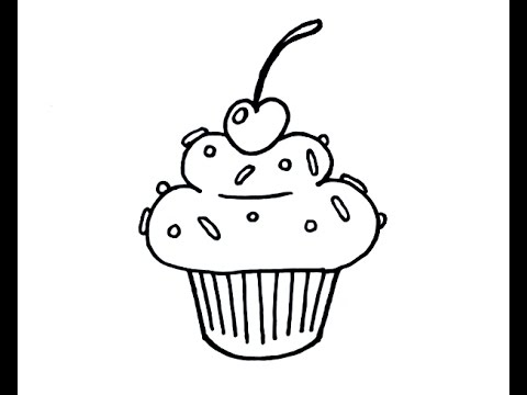 480x360 How To Draw A Simple Cartoon Cupcake