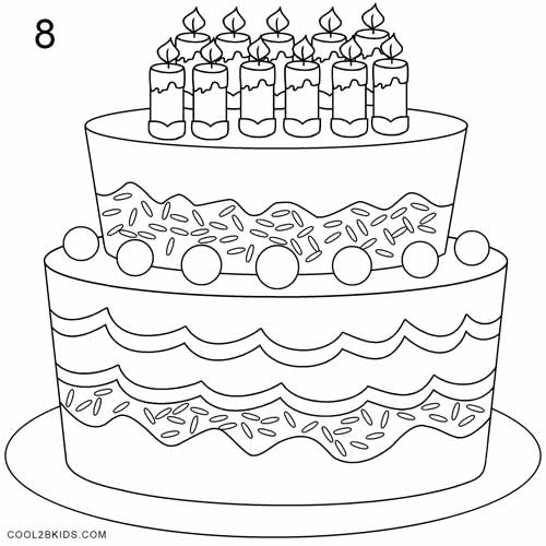 500x500 How To Draw A Birthday Cake Step By Step Drawing Tutorials