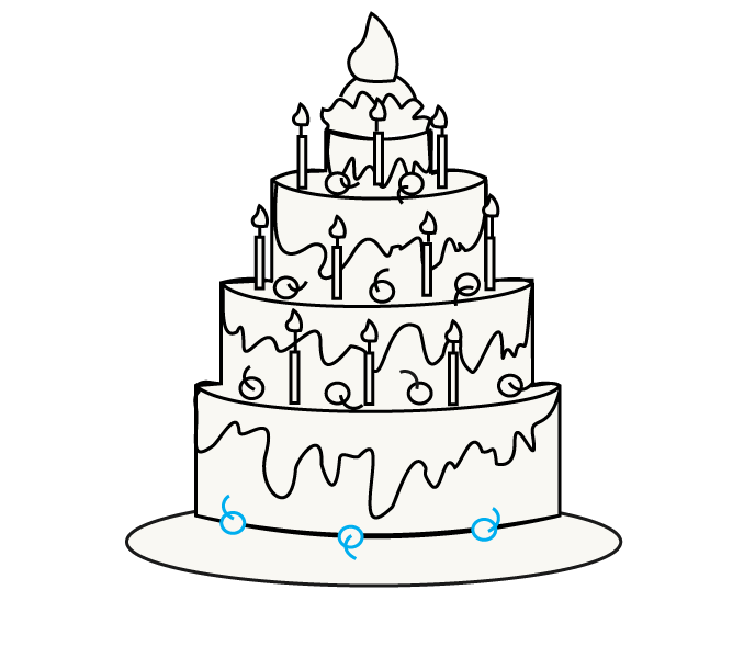 678x600 Plain Design How To Draw A Cake Awesome Drawing Cartoon