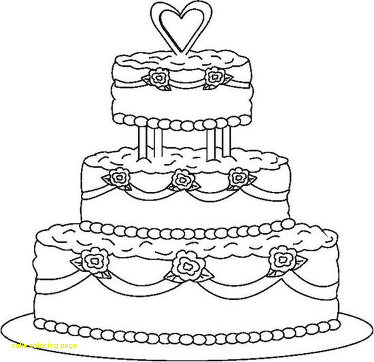 1275x1233 Cake Coloring Page With Drawing Birthday Cake Coloring Pages 28