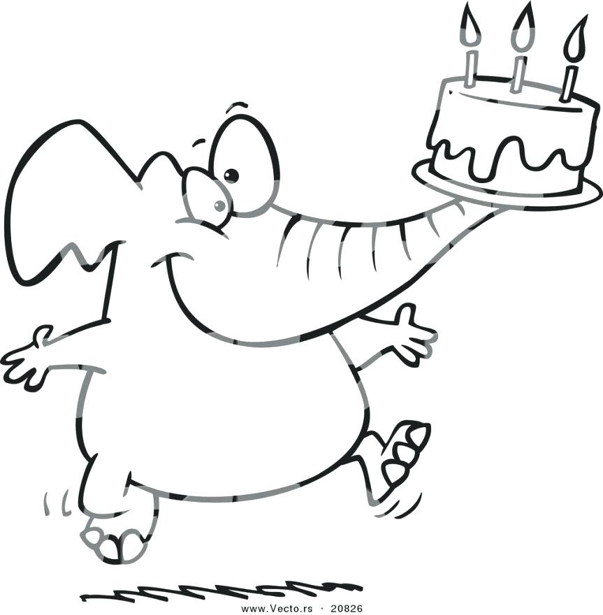 863x880 Cake Coloring Sheet Coloring Pages Vector Of A Cartoon Birthday