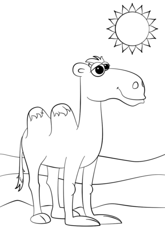 340x480 Cute Cartoon Camel Coloring Page Free Printable Coloring Pages