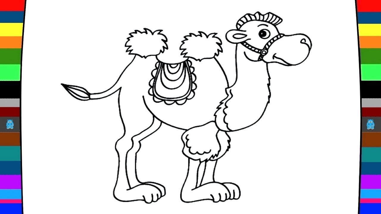 1280x720 Animal Coloring Pages How To Draw And Coloring A Camel