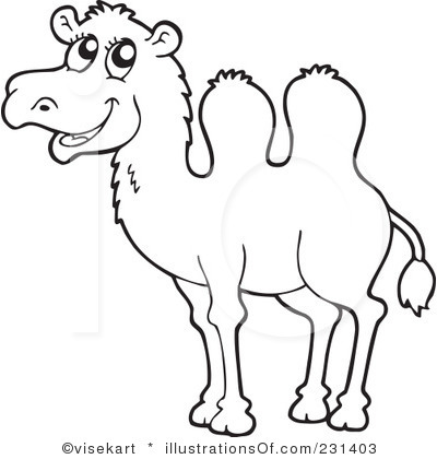400x420 Clip Art Black And White Royalty Free (Rf) Camel Clipart