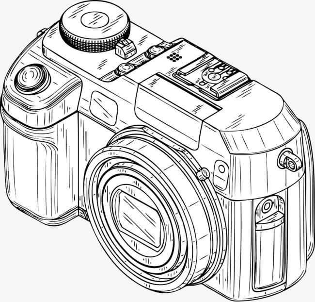 650x622 Painted White Cartoon Camera, Cartoon, White, White Cartoon Png